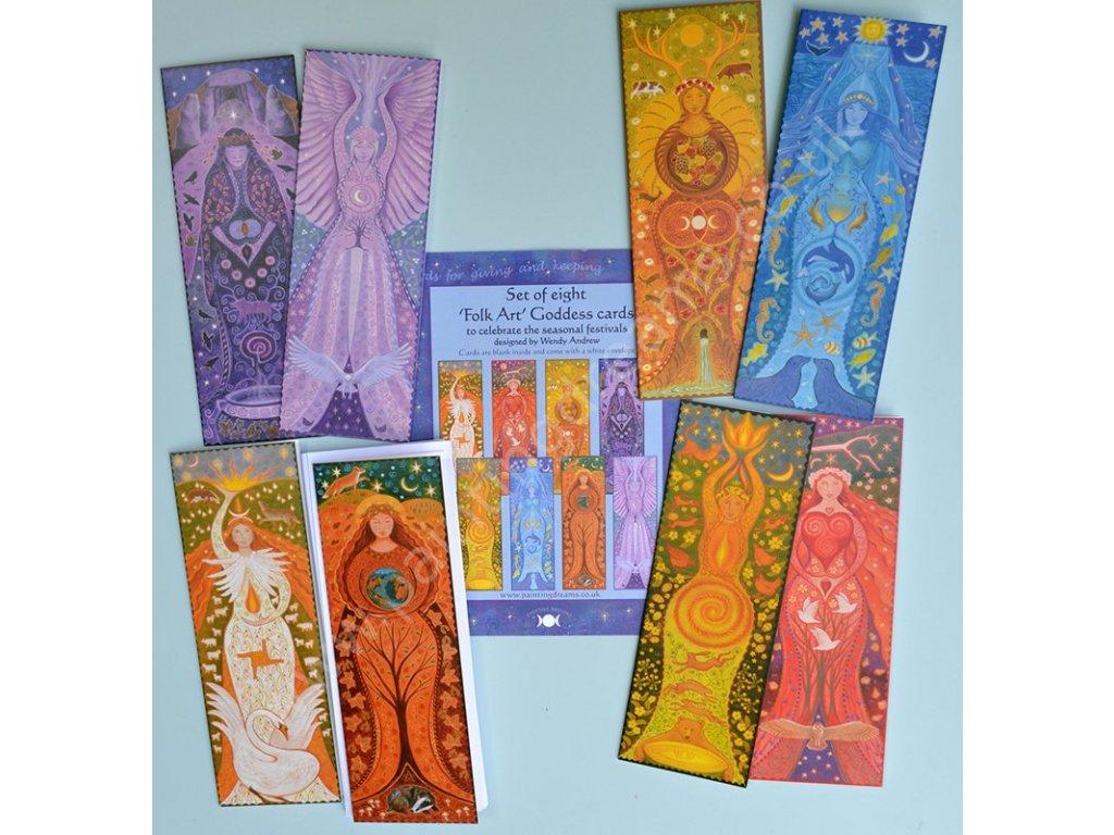 Folk Art Greetings Card Set