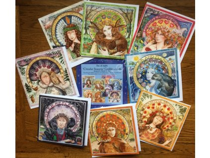 Circular Seasons Goddess Card Set