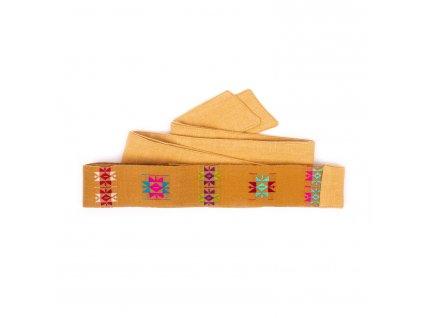 Tkaný pás - jednoduchý červený