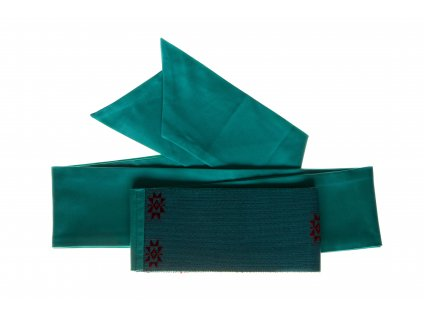 Tkaný pás - tyrkysový jednoduchý