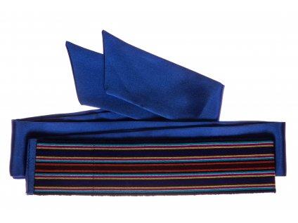 Tkaný pás - safírový 2