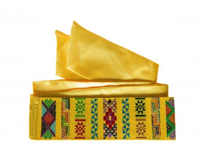Tkaný pás - Královsky žlutý