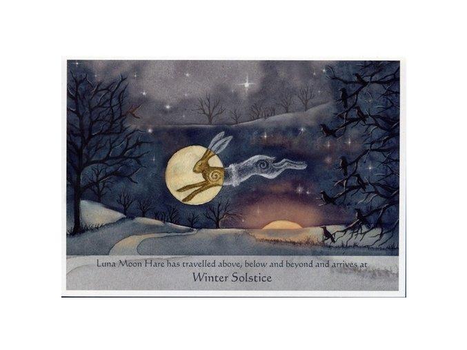 luna moon hare at winter solstice