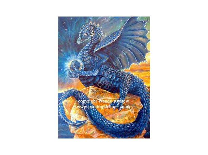 Indigo Meditation Dragon