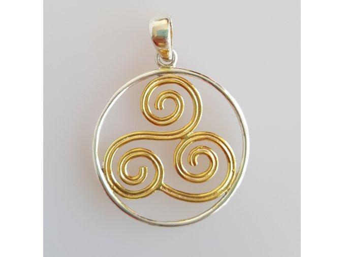 privesek keltska spirala
