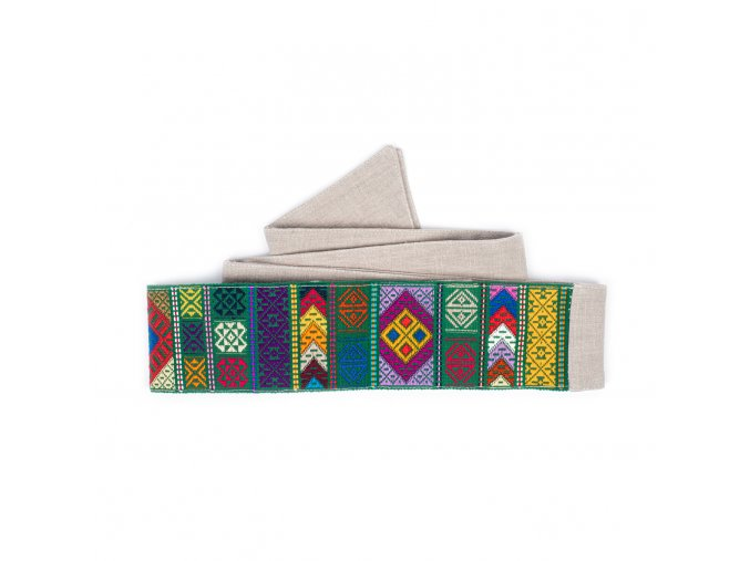 Tkaný pás - zelený
