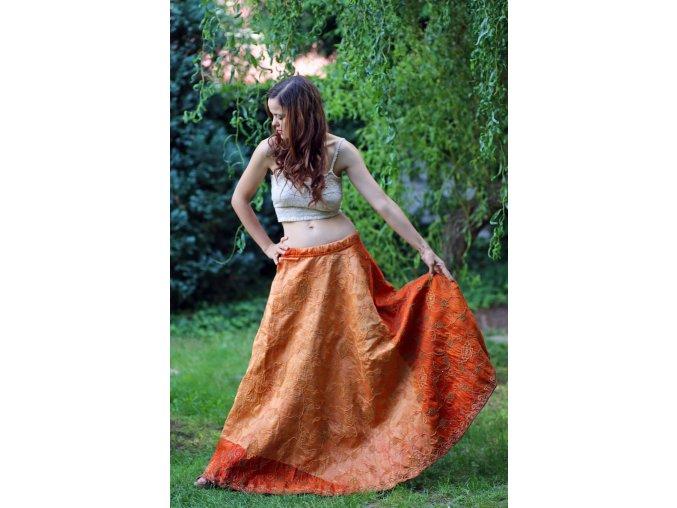 cihlova vintage sukne 01