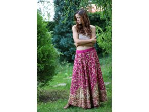 ruzova vintage sukne 01